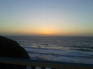 coucher de soleil sur la cote